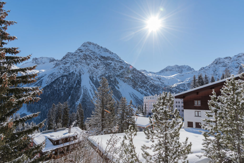 Aussicht Winter Arosa