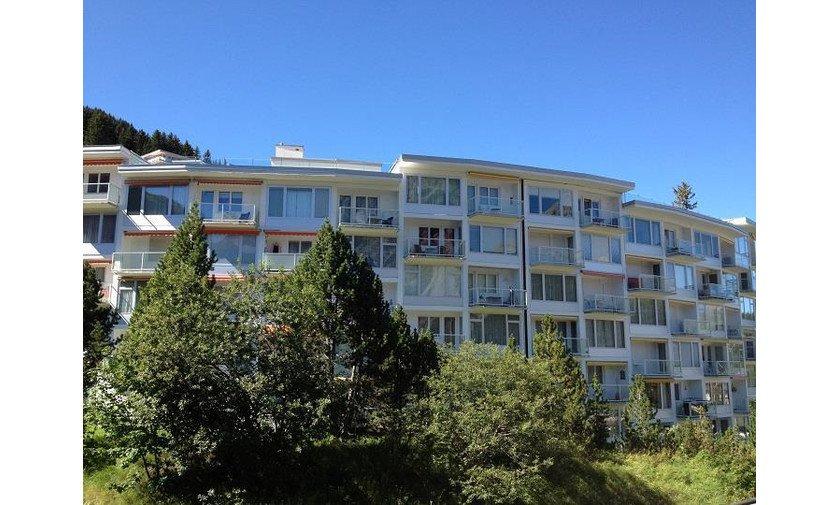 Casa Viktoria Aussenansicht Ferienwohnung Arosa