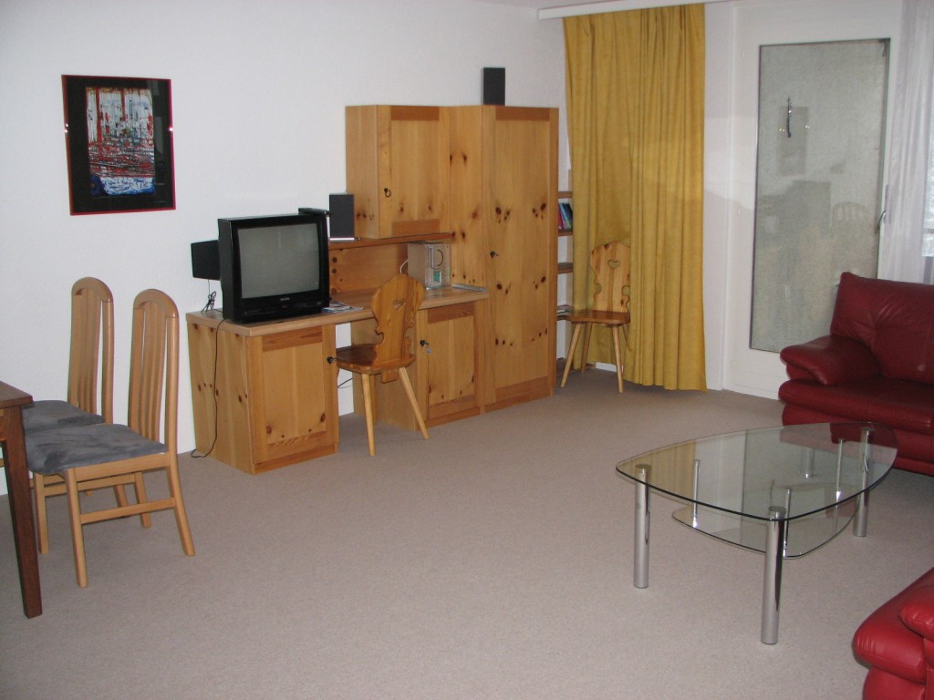 Wohnzimmer Ferienwohnung Rothornblick