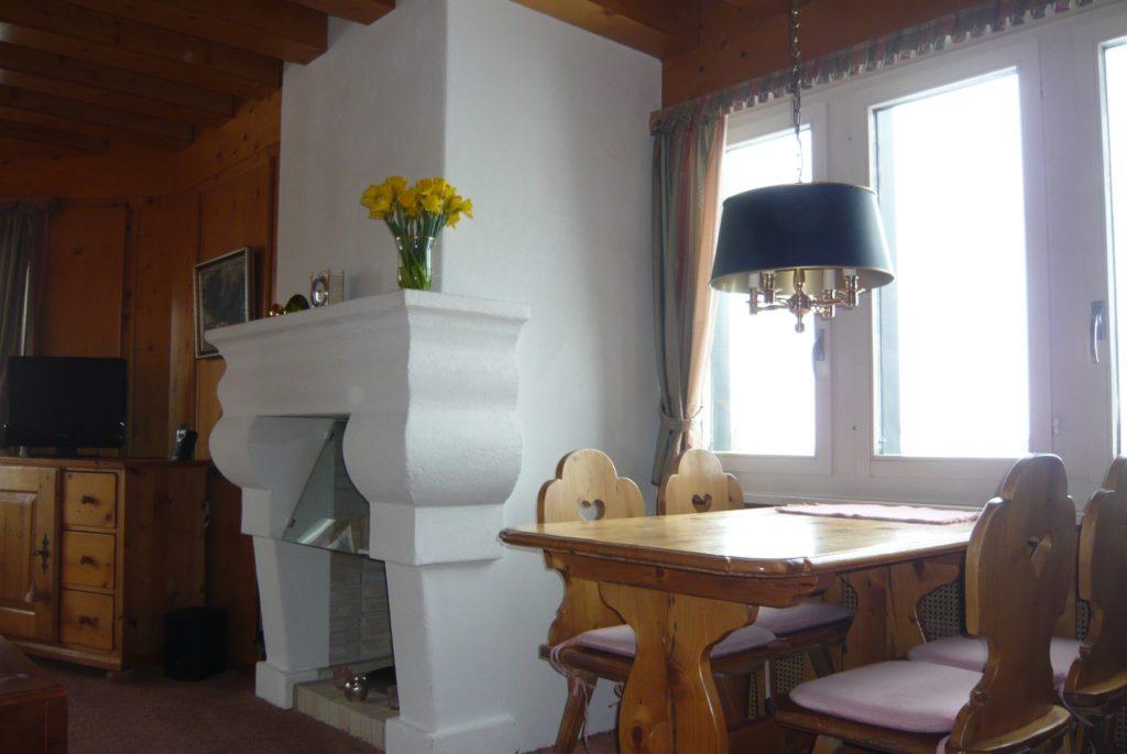 Wohnzimmer Ferienwohnung Severina Arosa