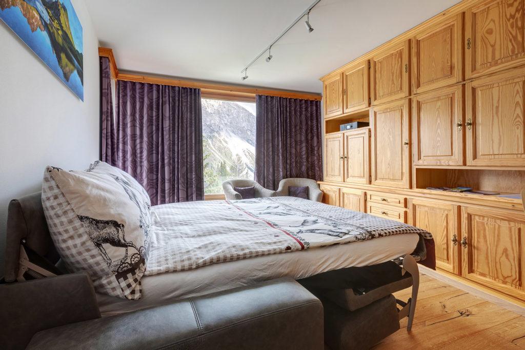 Wohnzimmer Ferienwohnung Arosa
